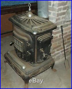 Vintage Used Cast Iron Wood Burning Stove