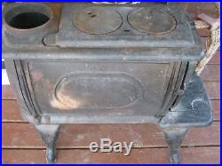 Vintage Used Wood Burning Stove Cast Iron Heater Made In Taiwan
