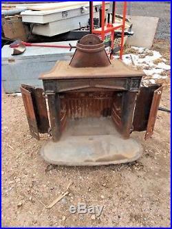 Vintage Wood Burning Cast Iron Fireplace/Stove