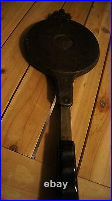 Vtg Jotul Pizzelle Cookie Maker Goro Iron Made In Norway Stove Top Cast Iron
