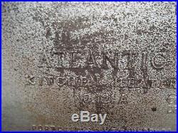 Vtg PORTLAND FOUNDRY COAL STOVE Range Cast Iron Atlantic Kitchen/Apartment