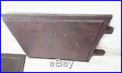 Vtg antique cast iron coal wood cook stove burner factory farm furnace doors
