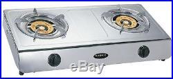 Wok Double 2 Burner Cooker Stove Natural Gas 13.5 MJ Portable Benchtop
