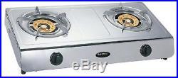 Wok Double Burner Wok Cooker Stove LPG Gas 13.5 MJ Portable Benchtop