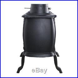 Wood Burning Burner Stove Timber Furnace Log Heater Cast Iron Cabin Garage 900SF