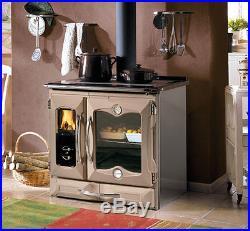Wood Burning Cook Stove La Nordica Suprema Tortora Cooking Range, Cast Iron