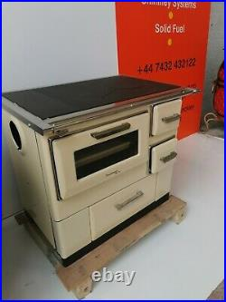 Wood Burning Cooking Stove Cast Iron Top 9.5Kwkw Oven 7 new line in beige
