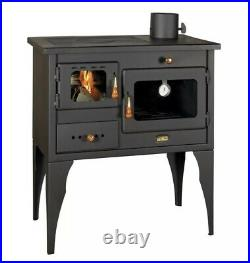 Wood Burning Oven Cooker Stove with Top Plate 10 KW Log Burner Fire TinyHome