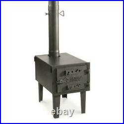 Wood Burning Stove Camping Tent Ice Shack Heater Woodstove Body & Pipe Fireplace