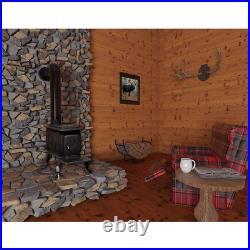 Wood Burning Stove Logwood Cast Iron Heater Rustic Multiple Smart Home Compatibi