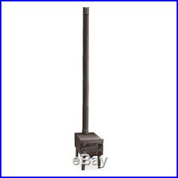 Wood Stove Portable Outdoor Burner With Chimney Camping Stove Tent Heater New